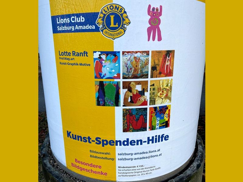 Plakat Kunst-Spenden-Hilfe für Lions Club Salzburg Amadea